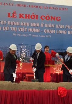 Hà Nội: Khởi công xây dựng khu nhà ở giãn dân phố cổ