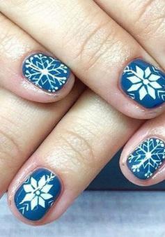 Làm đỏm với móng tay phong cách Giáng sinh