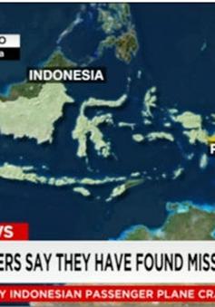 Đã tìm thấy máy bay Indonesia mất tích?