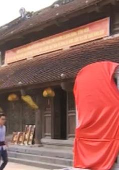 """Dựng """"chui"""" bia đá tại đền Trần - Thái Bình"""