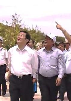 Chủ tịch nước Trương Tấn Sang thăm và làm việc tại Khánh Hòa