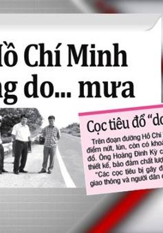 'Đường Hồ Chí Minh xuống cấp là do… mưa'