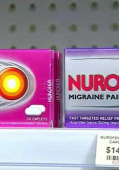 Australia dừng bán thuốc giảm đau Nurofen do lừa dối khách hàng
