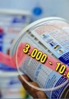 Thêm 25 sản phẩm sữa đăng ký giảm giá