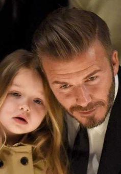 David Beckham không muốn cắt tóc của bé Harper