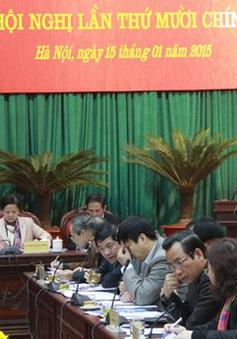 Thành ủy Hà Nội lấy phiếu tín nhiệm các Ủy viên Ban Thường vụ