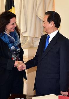 Thủ tướng hội kiến Chủ tịch Thượng viện Bỉ