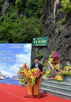 Khánh thành tượng đài Anh hùng vũ trụ Titov trên Vịnh Hạ Long