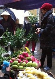 Hà Nội: Hoa quả, thực phẩm tăng giá dịp cận Tết