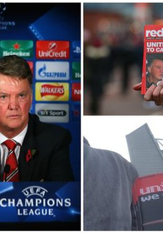 Thành tích bết bát, CĐV Man Utd 'nóng mắt' với Van Gaal