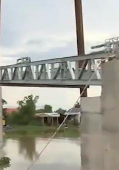 Mố cầu dây văng tại Long An bị sụt lún nghiêm trọng