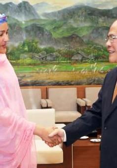 Chủ tịch QH Nguyễn Sinh Hùng tiếp Trợ lý Tổng thư ký LHQ