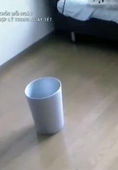 Thùng rác thông minh tự nhặt rác