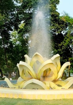 Đài phun nước Bông Sen Vàng đoạt giải thiết kế quốc tế