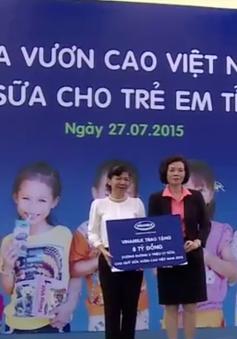 """Quỹ sữa """"Vươn cao Việt Nam"""" đến với con em gia đình chính sách tỉnh Nghệ An"""