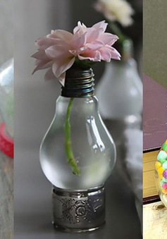 Những ý tưởng tái chế bóng đèn độc đáo