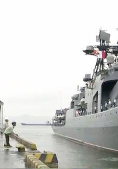 Tàu chống ngầm của Hải quân Nga cập cảng Tiên Sa, Đà Nẵng