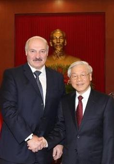 Tổng Bí thư tiếp Tổng thống Belarus