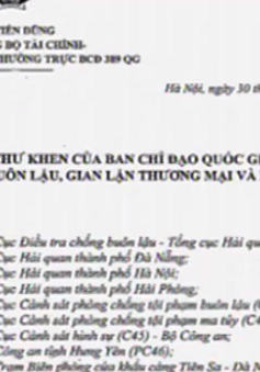 Ban chỉ đạo 389 Quốc gia gửi thư khen các lực lượng chống buôn lậu