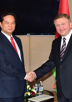 Thủ tướng Nguyễn Tấn Dũng hội kiến Thủ tướng Belarus