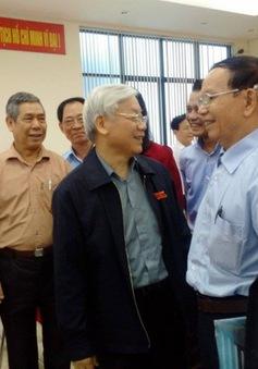 Tổng Bí thư tiếp xúc cử tri TP Hà Nội