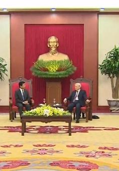 Tổng Bí thư tiếp Đại sứ Lào