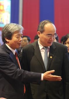 Đồng chí Nguyễn Thiện Nhân đánh giá cao hoạt động của VTV tại Hội báo Xuân