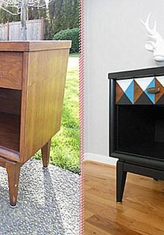 """7 ý tưởng giúp """"biến hình"""" chiếc tủ cũ kỹ"""
