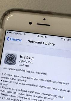 iOS 9 cập nhật bản vá lỗi đầu tiên với dung lượng siêu nhẹ