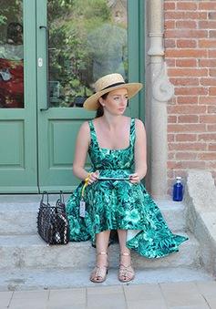 Thời trang mùa hè dịu mát với gam màu xanh lá