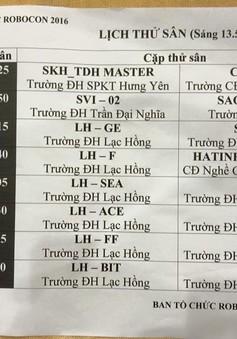 ĐH Lạc Hồng áp đảo quân số trước vòng 1/8 chung kết Robocon Việt Nam 2016