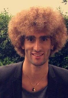 Fellaini gây sốc khi nhuộm vàng mái tóc xù để đón EURO 2016