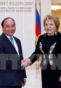Thủ tướng Nguyễn Xuân Phúc hội kiến Chủ tịch Hội đồng LB Nga