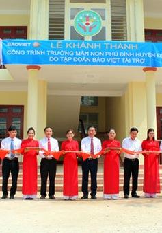 Thái Nguyên: Khánh thành công trình Trường Mầm non xã Phú Đình