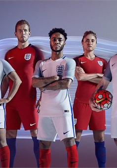 Cận cạnh mẫu áo đấu bóng bẩy của ĐT Anh và ĐT Pháp tại Euro 2016