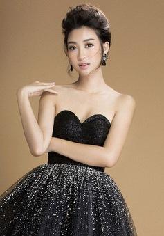 Hoa hậu Đỗ Mỹ Linh khoe vai trần gợi cảm với váy đen