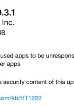 Apple tung bản vá iOS 9.3.1 khắc phục hoàn toàn lỗi treo ứng dụng