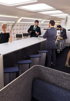 Tập thể hình trên... máy bay kiểu mới của Airbus