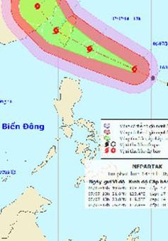 Xuất hiện siêu bão ở vùng biển ngoài khơi xa phía Đông Bắc đảo Luzon