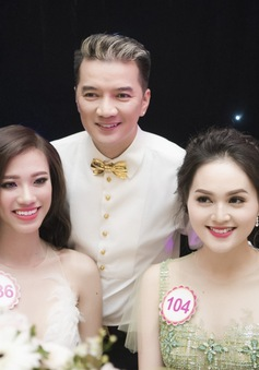 Đàm Vĩnh Hưng thích thú tạo dáng bên thí sinh Hoa hậu Việt Nam 2016