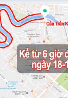 TP.HCM cấm xe lưu thông trên đường Trường Sa và Hoàng Sa