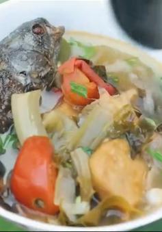 Khó quên hương vị bát canh chua cá rô Tổng Trường, Ninh Bình