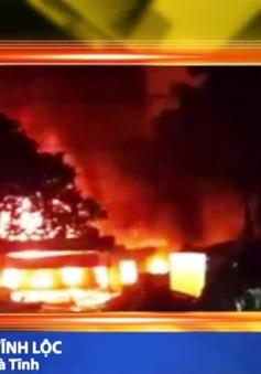 Cháy chợ Bình Sơn, Hà Tĩnh: 200 kiôt ra tro