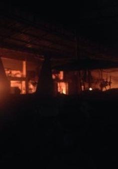 Cháy chợ người Việt tại Lào