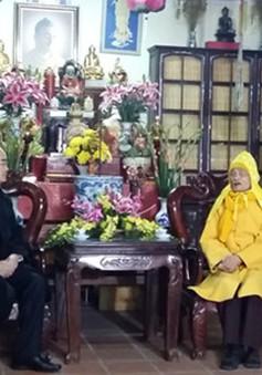 Đồng chí Nguyễn Thiện Nhân chúc Tết Pháp chủ Giáo hội Phật giáo Việt Nam