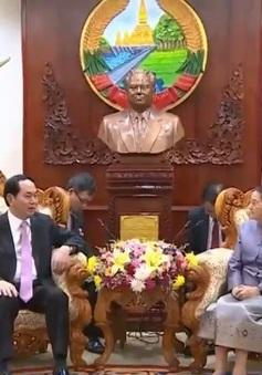 Chủ tịch nước Trần Đại Quang hội kiến Chủ tịch Quốc hội Lào