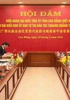 Đoàn đại biểu dân tộc Choang thăm và làm việc tại Cao Bằng