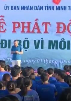 Hàng nghìn người dân Ninh Thuận tham gia Ngày đi bộ vì môi trường