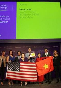 """Giáo viên Việt đạt giải với ý tưởng """"Lớp học trên nền tảng đa ngôn ngữ"""""""