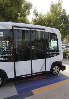 Xe bus không người lái ở Dubai